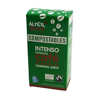 Orgaaninen kompostoitava intensiivinen kahvikapselit 10 kapselia 5g