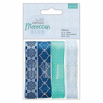 Papermania Capsule Ribbon Moroccan Blue (4x1m) (PMA 367148)