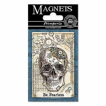 Stamperia Mechanical Fantasy Skull 8x5.5cm Magnet