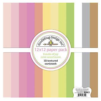 Pacote de design doodlebug de Joy 12x12 Polegadas Pacote de papel cardstock texturizado