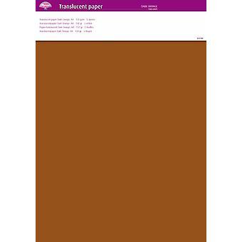 Pergamano Translucent Paper Dark Orange A4 150 gsm 5 Sheets