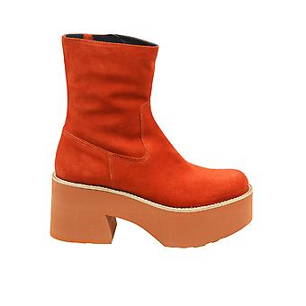 Paloma Barceló Covillarust Women's Red Suede Ankle Boots