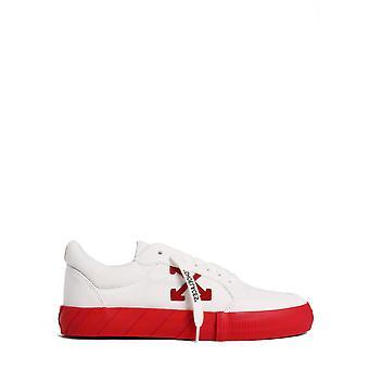 Off-white Omia085f20lea0050125 Men's White/red Leather Sneakers