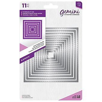 Gemini Stitch Edge Square Elements Dies