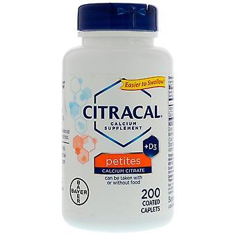 Citracal, Calcium Supplement +D3, Petites, 200 Coated Caplets