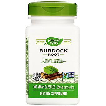 Nature's Way, Burdock Root, 950 mg, 100 Vegan Capsule