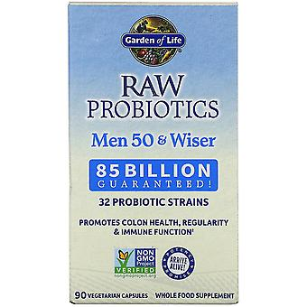 Garden of Life, RAW Probiotics, Men 50 & Wiser, 85 Billion Live Cultures, 90 Veg
