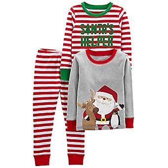 Simple Joys by Carter's Boys' 3-Piece Snug-Fit Cotton Christmas Pajama Set, R...