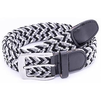 DUKE Duke Two Three Colour Stretch Braided Belt