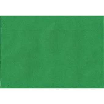 Holly Green Peel/sinetin C5/A5 värjätty vihreä kirjekuoria. 120gsm Luxury FSC-sertifioitu paperi. 162 mm x 229 mm. Lompakko tyyli kirjekuori.