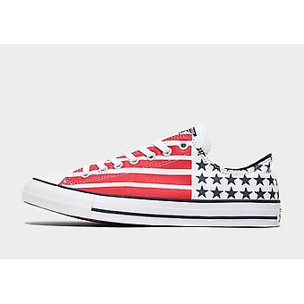 New Converse Men's Chuck Taylor All Star Ox Trainers White/Red