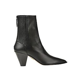 Aquazzura Ezgl481004 Women's Black Leather Ankle Boots