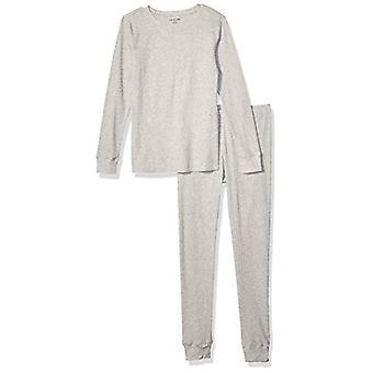 Essentials Women's Thermal Long Underwear Set, Heather Grey, Medium