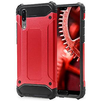 Shell to Huawei P20 Red Armor Protection Case Hard