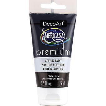 Americana Premium Acrylic Paint Tube 2.5oz-Payne's Grey