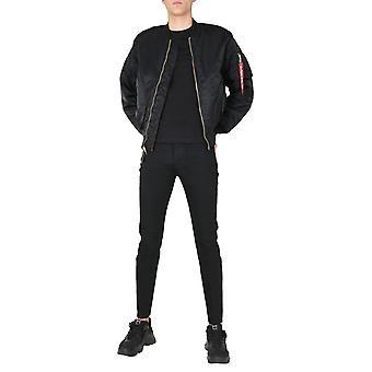 Alpha Industries 10010103 Men's Black Nylon Outerwear Jacket
