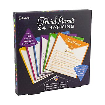 Trivial Pursuit Napkins Pack of 2 General Knowledge Dinner Party Game Fun