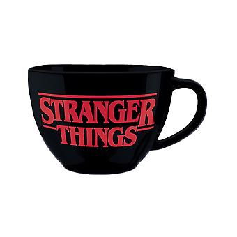 Stranger Things Upside Down Cappuccino Mug with Stencil