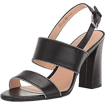 Coach Womens Rylie Beadchain Leather Peep Toe Casual Ankle Strap Sandals