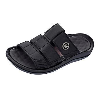 Mens Cartago sandales Santorin Slide plage tongs - noir