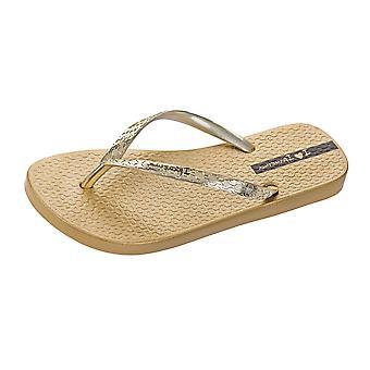 Womens Ipanema Flip Flops Glam Beach Sandals - or
