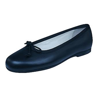 Start Rite Francesca Girls Leather Slip On School Shoes - Black
