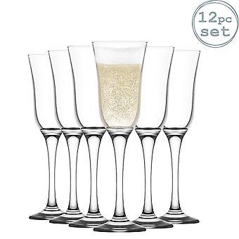 LAV Vals Champagne Flautas Set - Gafas de Flauta Vintage para Vino Espumoso - 190ml - Pack de 12