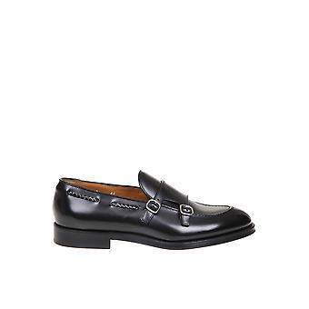 Doucal's Du2617orviuf007nn00 Men's Black Leather Loafers