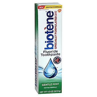 Biotene Fluoride Toothpaste Gentle Mint, 4.3 Oz