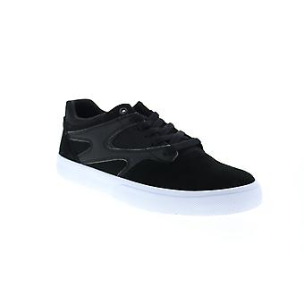 DC Kalis Vulc S Mens Black Suede Skate Sneakers Schoenen