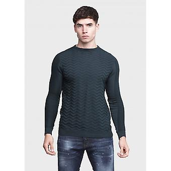 883 Police Stormy Cotton Ribbed Khaki Knitwear Jumper