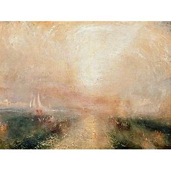Yacht Approaching the Coast Poster Print by William Turner
