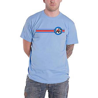 The Jam T Shirt Target Stripe Band Logo new Official Mens Light Blue
