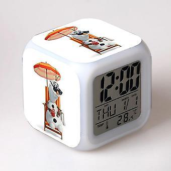 צבעוני רב תכליתי LED ילדים & apos;s שעון מעורר -Rainha לעשות ג'לו #52