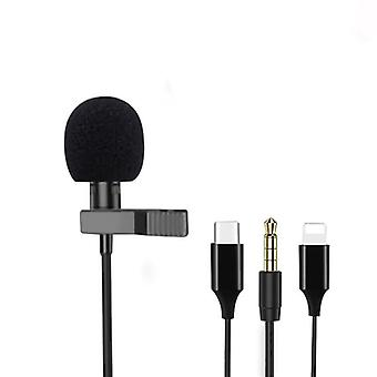 Omnidirectional Microphone Condenser Clip-on Lapel