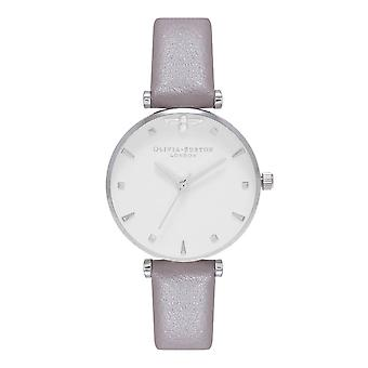 Olivia Burton Ob16am144 Queen Bee London Grey & Silver Leather Ladies Watch