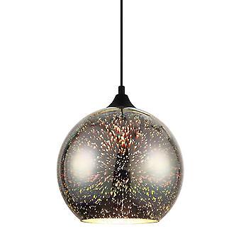 Italux Andromeda 3D - Pendentif suspendu moderne noir, coloré 1 lumière , E27