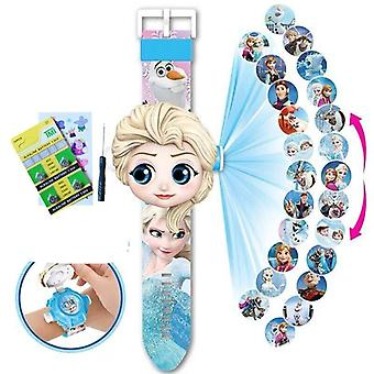 Children's Watch Projection Cartoon Pattern Digital's Watch Led Display Clock