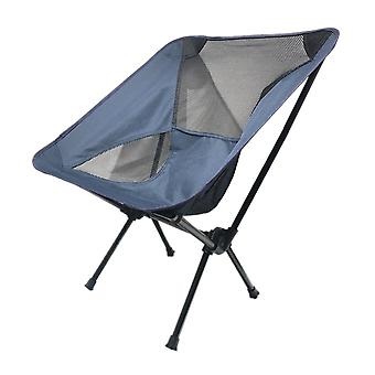 Navy Oxford Cloth Mesh Steel Pipe Outdoor Ultralight Portable Folding Chair