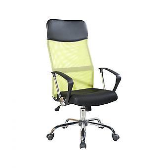 Rebecca Furniture Fauteuil ergonomique Chaise Noir Vert Bureau 113/123x57.5x58.5