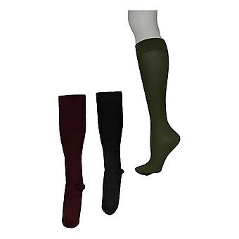 تراث المرأة & ق الجوارب ضغط متدرج مجموعة من 3 الجوارب الخضراء A341727