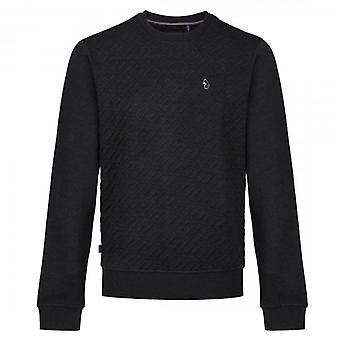 Luke 1977 Luke Ellova Crew Neck Logo Jacquard Sweatshirt Black M560308