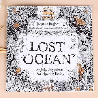 Lost Ocean English Edition Inky Coloring Book 24 Páginas