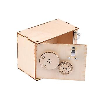 DIY Box Wooden Money Box with Lock  Decoration Supplies Model Building Kits for Manual DIY Scene Production