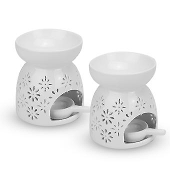 Ceramic Oil Burners - Set of 2 | M&W Flowers