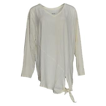 Anybody Women's Top Long Sleeve W/ Side Tie Detail White A372098