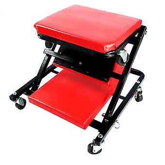 Folding Mechanics Deluxe Car Creeper Rolling Garage Seat Wheeled With Head Rest
