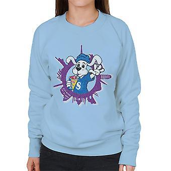 Slush Puppie Distressed World Background Women's Sweatshirt