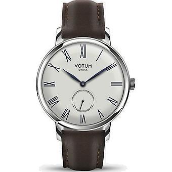 VOTUM - Reloj de señora - VINTAGE SMALL - VINTAGE - V11.10.42.03 - correa de cuero - marrón oscuro