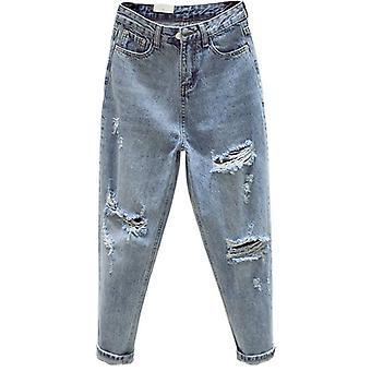 New Toamna Iarna Moda Casual Denim Pantsfriend Hole Jeans High Waye